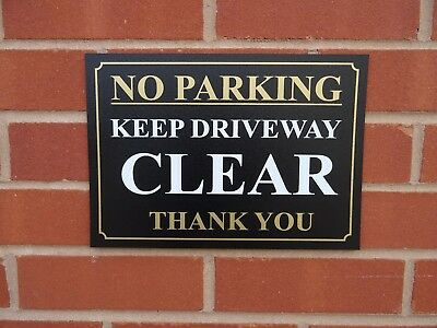 No Parking Keep Driveway Clear Thank You Sign / Sticker - All Materials & Sizes