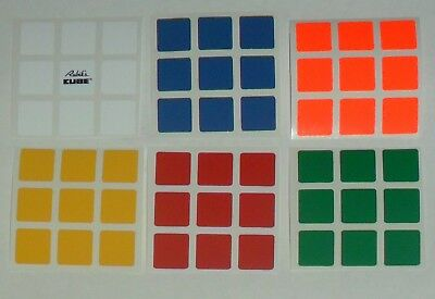 3x3 Rubik's Cube Replacement Sticker Set with Original Rubik Logo from Hungary