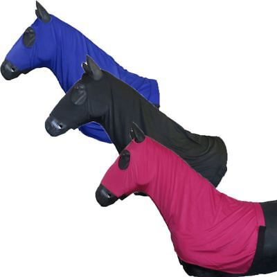 Best On Horse Lycra Hood - Protective Comfortable Quality Equestrian With Zip