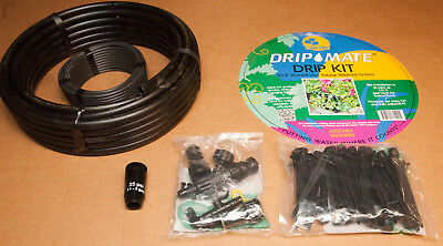 Antelco Drip Mate Low Volume Watering Drip Kit with 25 Shrubbler Drippers