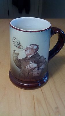 "1880's Beer Tankard w/ a MONK  drinking 5"" tall"