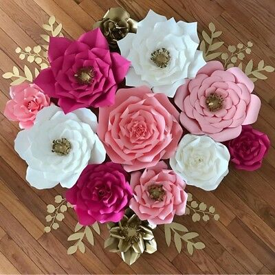 Paper Flower Backdrop Wall Rose Flowers DIY Wedding Party home Decor supplies