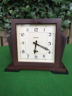 Antique Art Deco Genalex Bakelite Case Electric Mantle Clock