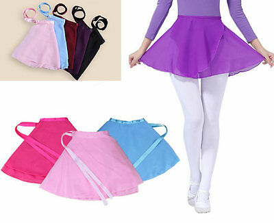 Girls Kids Ballet Dance Dress Leotard Chiffon Skirt Party Dancewear Costume