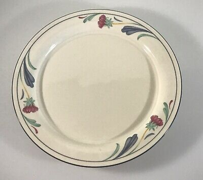 "POPPIES ON BLUE by Lenox 10-3/4""  Dinner Plate Made in USA"