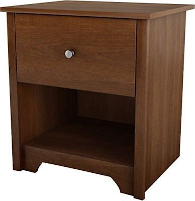 South Shore Furniture Vito Collection, Night Stand, Sumptuous Cherry