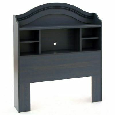 South Shore Furniture Provincetown Bookcase Headboard in Blueberry Finish