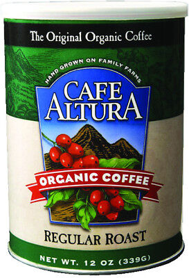 Regular Roast Ground Coffee, Cafe Altura, 12 oz Regular