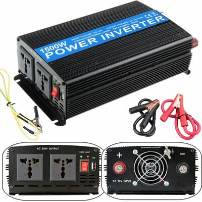 1500W INVERTER ONDA SINUSOIDALE PURA da 12V a 220V dc to ac pure power inverter~