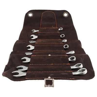 Spanner Set Metric Leather Roll 8 Pce 8 9 10 11 13 14 17 19Mm Mtr131310