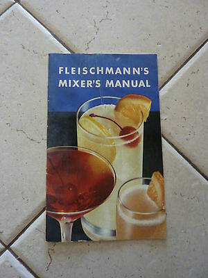 Vintage 10 Page Pocket Pamphlet Fleischmann's Mixer's Manual Drink Recipes