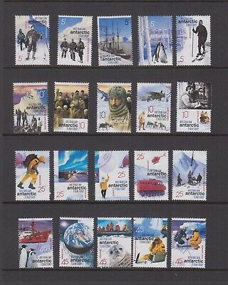 Australian Antarctic Territory 2001 EXPLORATION Set VFU (20)