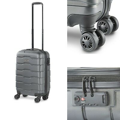 VonHaus Gray Carry On Travel Hand Luggage - Hard Shell Lightweight