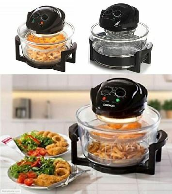 New 2 In 1 Glass Air Halogan Fryer Fresh Food Deep Fat Free Frying Healthy Lean