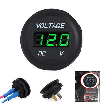 DC 12V-24V Digital LED Panel Voltmeter Voltage Meter Display For Car Motorcycle