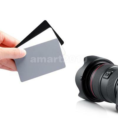 3 in1 Digital Grey Black White Balance Cards18% Gray Card for Photography