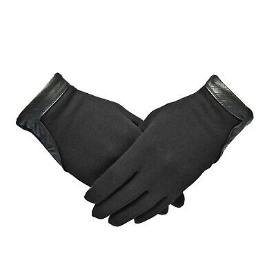 Ladies Womens Real Leather Gloves Soft Fleece Lined Winter Casual Driving Warm