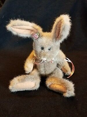"""Boyds Jointed Plush Bunny Rabbit 13"""" tall"""