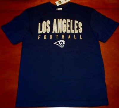 LOS ANGELES RAMS Football T Shirt NFL Vintage T Shirt Men's XL Navy  supplier