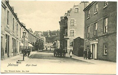 Vintage Postcard Melrose High Street Unused Ref: SA711