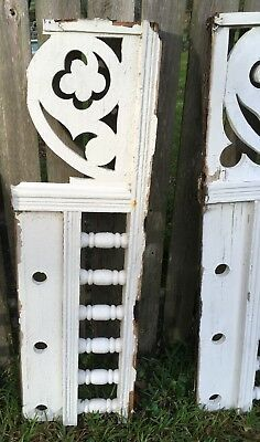 "ANTIQUE RAILING  w 6 BALUSTERS 1800s ARCHITECTURAL SALVAGE 46"" DESIGN 'AS IS'"