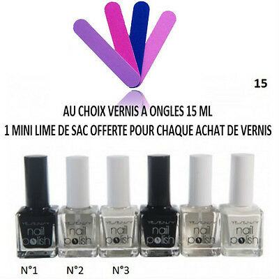 Vernis Ongle Blanc Noir Transparent Top Base Coat Manucure 15 Ml Neuf Ver041