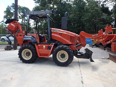 06 Ditch Witch RT115 cable plow / reel carrier, 412 hrs, 4 wl. steering, veemer
