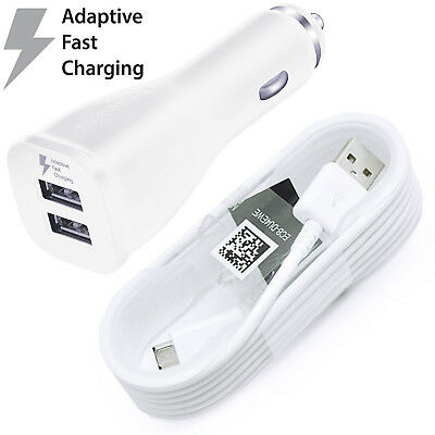 NEW Original Samsung Galaxy Note 4 5 s6 s7 Adaptive FAST Rapid Car Charger&CABLE