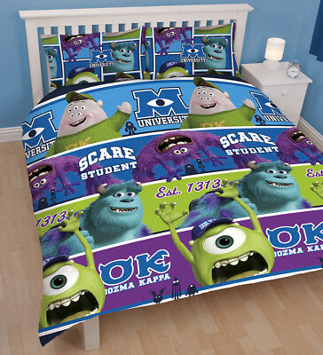 Monsters University Double Bed Duvet Cover set and 2 Pillowcases