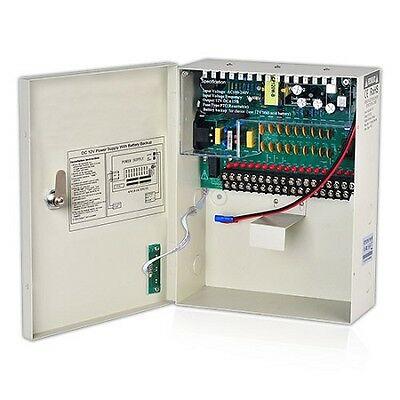 18 Channel CCTV Power Supply Distribution Box 12VDC 10Amp for Security Cameras
