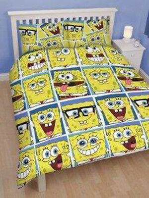 Spongebob Squarepants Framed Double Bed Duvet Cover Set Including 2 Pillowcases
