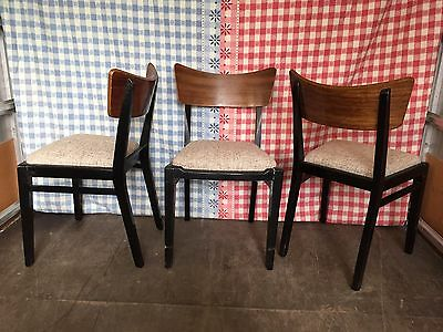 Set of 3x Retro Mid Century G Plan E Gomme Librenza Tola Kitchen Dining Chairs