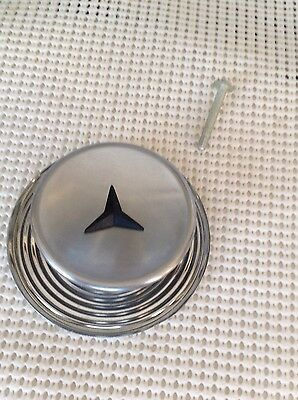 NOS Vintage Chrome/Steel knobs/ cabinets/drawers Back Plate Black Star Center