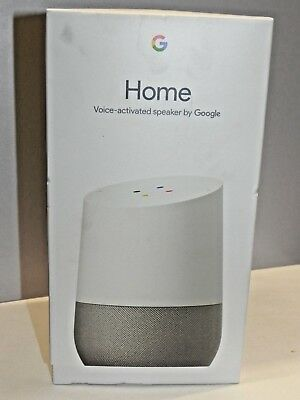 New in Box Google Home White Slate Personal Assistant WiFi Voice Recognition
