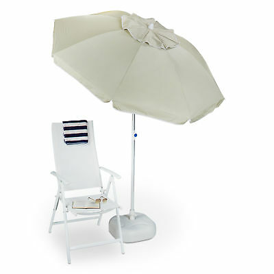 Sun Umbrella 180 cm, Cover made of Polyester, Garden Parasol, Tilting, Patio