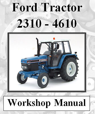 Ford Tractor 2310 2600 2610 3600 3610 - 4610 Workshop Manual On Cd - The Best !!