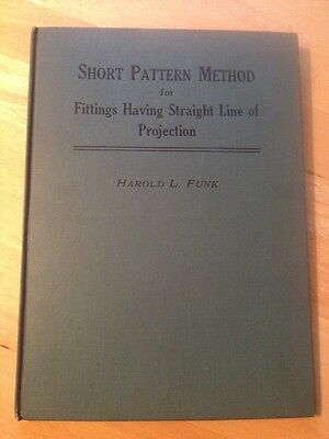 Short Pattern Method For Fittings Harold Funk 1941 Sheet Metal Stunning!