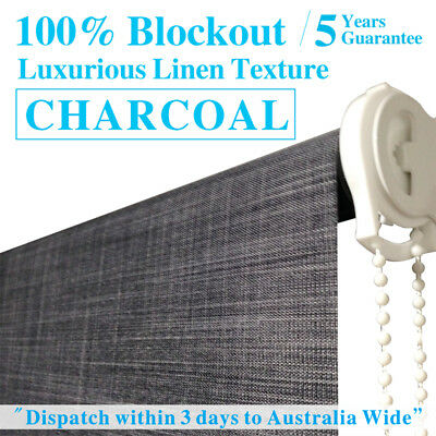 LUXURY LINEN TEXTURED BLOCKOUT Roller Blinds 60cm~240cm (W) x 120cm or 210cm (D)