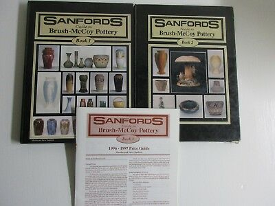 SANFORDS GUIDE TO BRUSH-MCCOY POTTERY Books 1 & 2 1992 with price guide 1996-97
