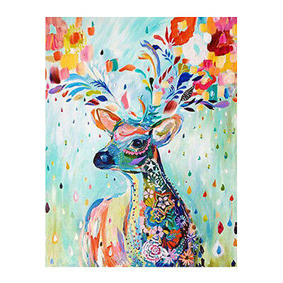 Hot Diy Oil Painting Paint By Number Kit Home Deocr Wall Picture - Painted Deer
