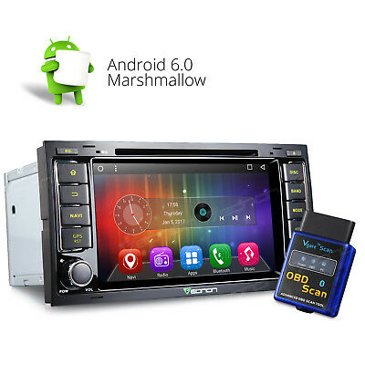 "OBD-II 7""Android 6.0 Car DVD Player Stereo GPS In Dash Audio W for VW Volkswagen"