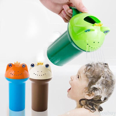 Shower Frogs Cup Baby Bath Toy Water Pouring Shampoo Rinse Kids Hair Wash