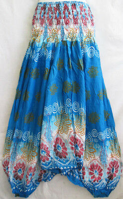 New Hippie Genie Aladdin Alibaba Boho Baggy Pants Trouser Beach Unique PH12 Blue