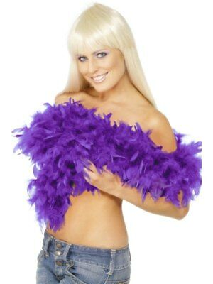 Deluxe Feather Boa Purple 180CM Ladies Flapper Fancy Dress Costume Accessory