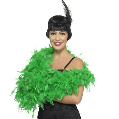 Deluxe Feather Boa Emerald Green Flapper Ladies Fancy Dress Costume Accessory
