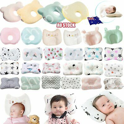 Baby Infant Newborn Memory Foam Bear Pillow Prevent Flat Head Anti Roll Support