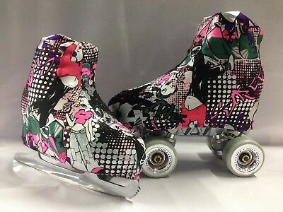 Hip Hop Pink Boot Covers for RollerSkates and Ice Skates  S,M,L