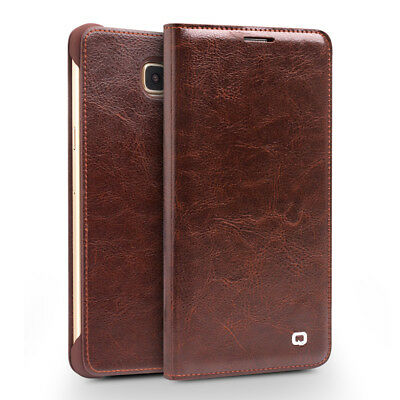 QIALINO Genuine Cowhide Leather Flip Cover for Samsung Galaxy A7 SM-A710F (2016)