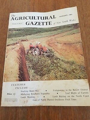 The Agricultural Gazette of NSW - August 1962. Vol 73 Part 8. Rare