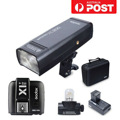 AU Godox AD200 2.4G TTL HSS Pocket Flash Strobe + X1T-S Trigger For Sony Cameras